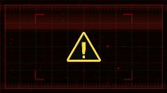 Warning Sign HUD (FLAT) HD Stock Footage
