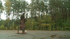 Sobibor memorial 1 Stock Footage