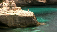 View of a Mediterranean Bay Stock Footage