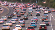 Stock Video Footage of heavy rush hour traffic in Los Angeles