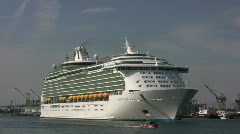 Cruise Ship Mariner of the Seas - Port of Los Angeles Stock Footage