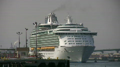 Mariner of the Seas - Port of Los Angeles Stock Footage