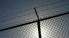 Chain link fence V3 - HD - stock footage