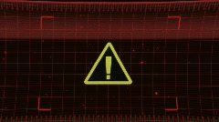 Warning Sign HUD (Shaky Camera) HD - stock footage