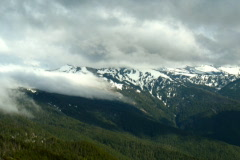 Time Lapse Fog Clouds Olympic Mountains NTSC Stock Footage
