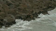 Waves Crashing on Rocks 01 Stock Footage
