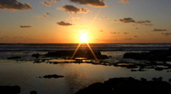 Sunset at Mediterranean Sea.  Stock Footage