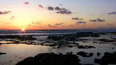 Sunset at Mediterranean Sea.  Stock Footage
