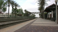 Stock Video Footage of Empty Commuter Train Station
