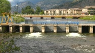 Stock Video Footage of dam, small  outflow, #2