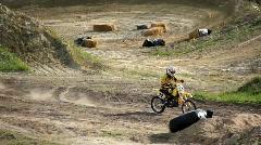 Racing motorcyclist Stock Footage