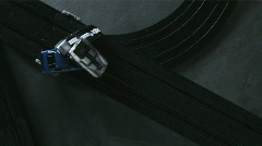CU View of electric slot cars. Stock Footage