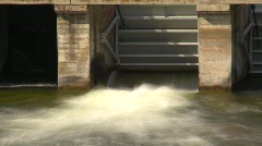 Time-lapse, small dam outflow Stock Footage