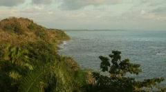 Costa Rican shoreline Stock Footage