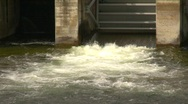 Dam, small  outflow, #1 Stock Footage