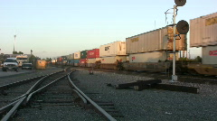 Container Intermodal Train Stock Footage