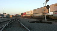 Stock Video Footage of Container Intermodal Train