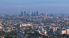 Zoom into the Los Angeles Skyline Stock Footage
