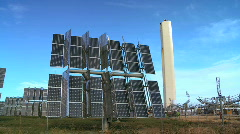 Environmental Solar Power Panels Stock Footage