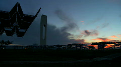 Time-lapse Early Morning at Solar Plant Stock Footage