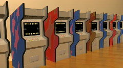 T194 arcades forward games game over gameover Stock Footage