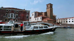 Sail along vessel station and passenger boat Stock Footage