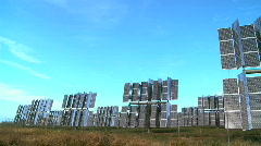 Renewable Energy Solar Power Panels Stock Footage