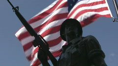 Flag and Soldier - stock footage