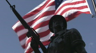 Stock Video Footage of Flag and Soldier