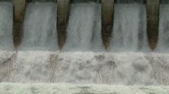 dam spillway Seebe, #4 medium tight, optical illusion motion - stock footage
