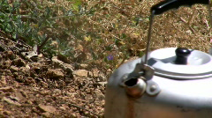 Boiling camping kettle. Stock Footage
