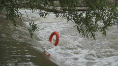 Lifering stuck in river. Stock Footage