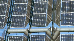 Photovoltaic Solar Energy Panels Stock Footage