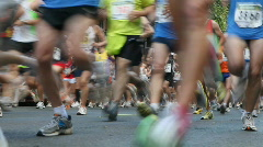 Urban race Stock Footage