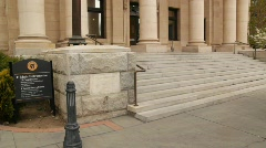 Court House Steps in Reno, Nevada Stock Footage