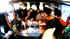 Bar counter timelapse 4 Stock Footage