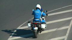HD 1080 - Police Bike Stock Footage