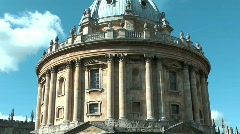 Radcliffe Camera in Oxford, England Stock Footage