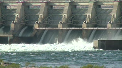 1408 - Columbia River The Dalles Dam close up Stock Footage