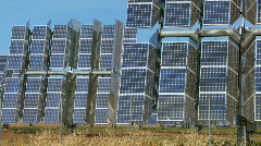 Solar Energy Power Plant Stock Footage