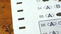 Macro scantron fly over Stock Footage