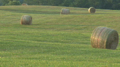 Summer on the Farm in the Countryside with Rolling Hills and Farms Stock Footage