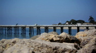 Stock Video Footage of Malibu Pier 01 HD