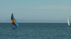 Sport Sailing on Ocean 01 Stock Footage