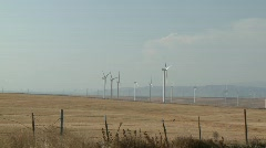 1397 - Wind farm pan L - R and hold Stock Footage