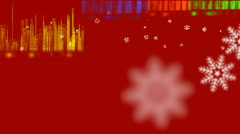Music sound pulse  at christmas on maroon Stock Footage