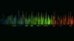 Music sound pulse  in color Stock Footage