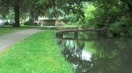 Stock Video Footage of Lower Slaughter and the River Eye in the Cotswolds, England