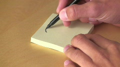 Question Mark on Post-it Stock Footage
