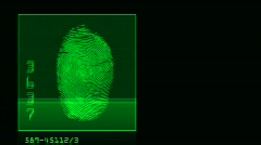 Thumb print search horizontal Stock Footage